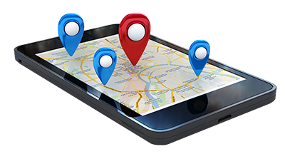 Smart-Phone-With-Map-And-Geo